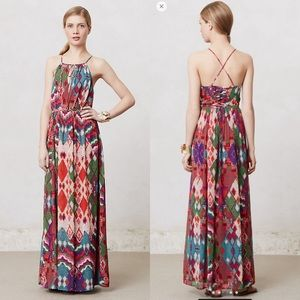 Anthropologie Maeve Tarana Maxi Dress Size 8